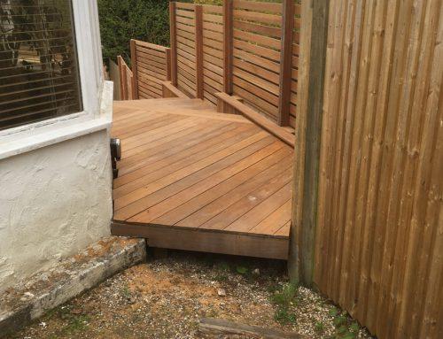 hardwood decking walkways retaining walls caterham